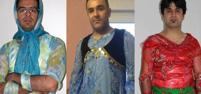 Iran, uomini curdi vestiti da donna contro le discriminazioni