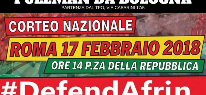 Pullman da Bologna per il corteo nazionale #DefendAfrin