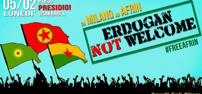 Milano non vuole Erdogan. Al fianco di Efrin- Presidio