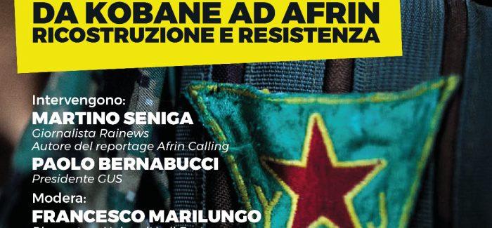 Da Kobane ad Afrin, fra ricostruzione e resistenza- L'Aquila
