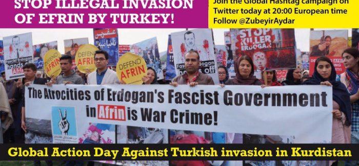 Giornata Globale di Azione contro l'invasione turca del Kurdistan-Appello