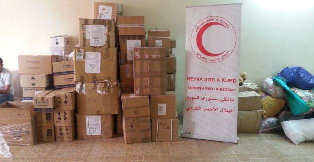Arrivate a Mezzaluna Rossa Curda della Siria del Nord 280 kg di medicine