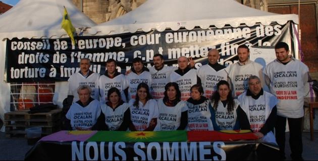 Kurdi in Europa in sciopero della fame per la libertà di Öcalan