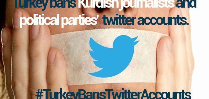 Campagna contro la  censura di Twitter sugli account dei media  curdi